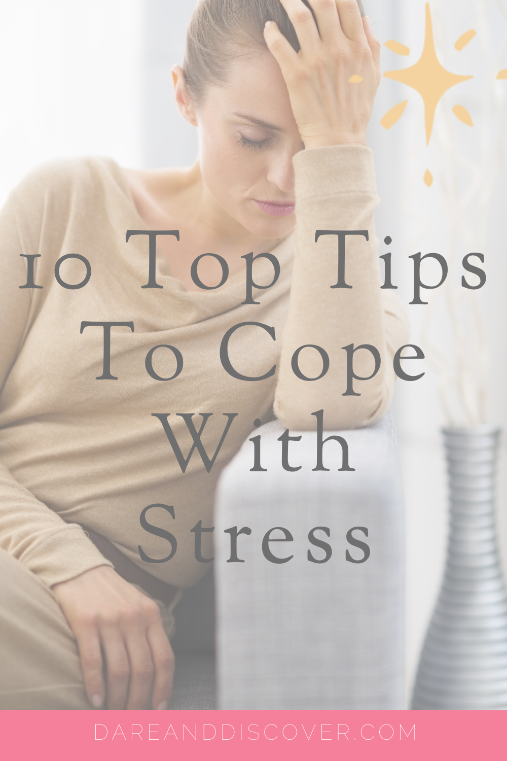 Stress is a part of every day life, but too much can have a negative impact upon us. It's useful to find ways to cope with stress that work for us. Everyone has different ways that they cope with stress. To give you some inspiration, I've put together my 10 top tips to cope with stress! | Stress relief | Cope With Stress | Stress Management | #Stress #StressRelief #CopeWithStress