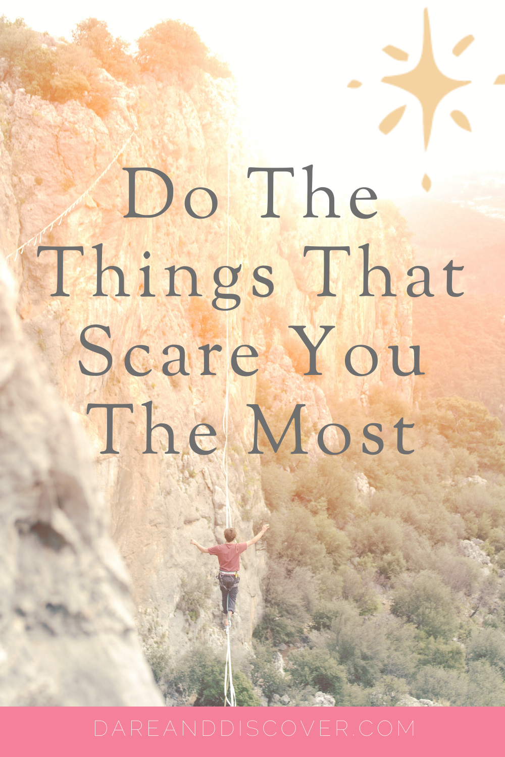 "Eleanor Roosevelt once said: ""You must do the thing you think you cannot do"". In other words, I think she was saying ""Do the things that scare you the most!"". Fear can paralyse us if we're not careful, so what can we do to get rid of the fear?? Remember that fear is only a feeling and we have the power to change it so we can do the things we are scared of 