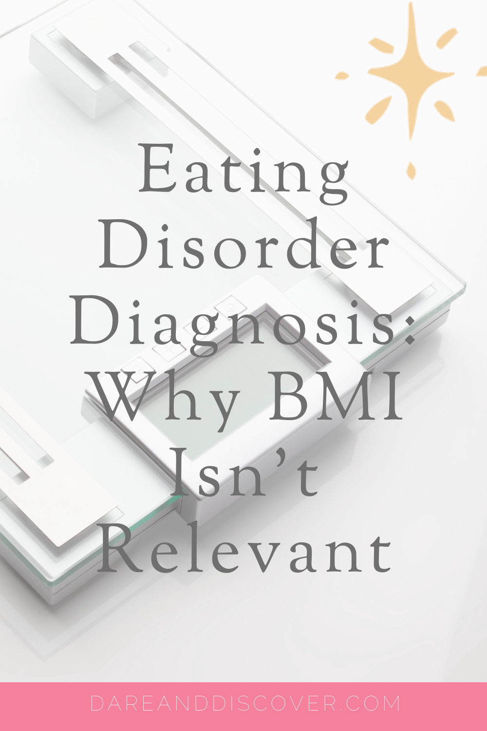 In order to receive an eating disorder diagnosis in the UK you need to be assessed by a trained professional and meet certain criteria. For Anorexia Nervosa, one of the criteria for this eating disorder diagnosis is that the person's Body Mass Index (BMI) is below a certain level. I explain why I think it's inappropriate to use BMI as one of the criteria for an eating disorder diagnosis | Eating Disorder Diagnosis | Anorexia Nervosa | The Scale Lies | #EatingDisorder #Anorexia