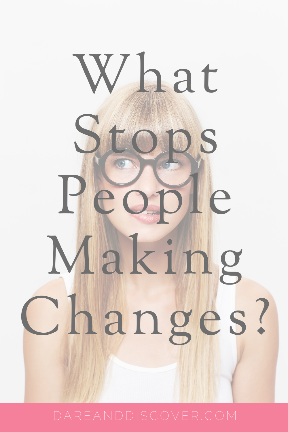 "We see it a lot, especially on social media. We're told that if we want to see change then we have to work for it, no excuses. The famous slogan ""Just Do It"" comes to mind here. However, if change is so easy, why doesn't everyone just ""do it""? What stops people making changes? There are a few things which can get in the way of people making changes which I discuss in this post. 
